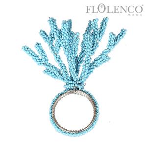 蓝珊瑚餐巾扣
